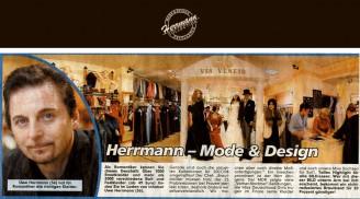 Herrmann Mode & Design – große Präsentation in der BILD-Zeitung - Hochzeitsmode Dresden - Uwe Herrmann