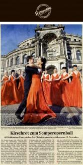 Der Dresdner Festmodendesigner Uwe Herrmann hat zum zweiten Mal in Folge das Outfit der jungen Frauen und Männer entworfen sowie dessen Vorfinanzierung komplett übernommen - Hochzeitsmode Dresden - Uwe Herrmann