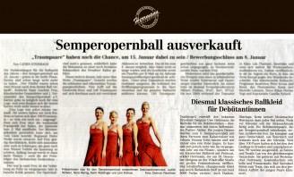 Traditionell entwirft der bekannte Dresdner Designer Uwe Herrmann die Ballrobe für die Debütantinnen - Hochzeitsmode Dresden - Uwe Herrmann