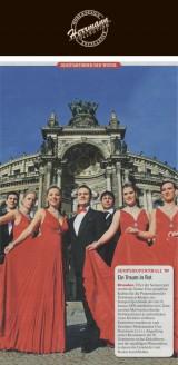 Zum zweiten Mal werden den Semper Opernball die Debütantinnen in einheitlich roten Kleidern eröffnen. Entworfen wurden sie vom Dresdner Modemacher Uwe Herrmann - Hochzeitsmode Dresden - Uwe Herrmann