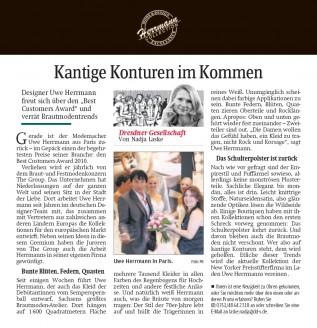 Designer Uwe Herrmann freut sich über den Best Customers Award und verrät Brautmodentrends - Hochzeitsmode Dresden - Uwe Herrmann