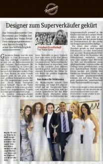 Der Festmodenexperte Uwe Herrmann aus Dresden hat in London den Venus Bridal Preis entgegen genommen – eine Auszeichnungfür seine Geschäftstüchtigkeit - Hochzeitsmode Dresden - Uwe Herrmann