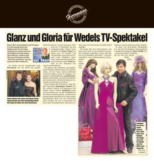 Der Dresdner Modeexperte stattet nicht nur die Debütanten beim Semper Opernball aus, sondern auch den neuen Fernsehzweiteiler Mit Glanz und Gloria von Star Regisseur Dieter Wedel - Hochzeitsmode Dresden - Uwe Herrmann