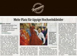Festmodenausstatter Uwe Herrmann will sein Geschäft in der Innenstadt um 800 Quadratmeter erweitern - Hochzeitsmode Dresden - Uwe Herrmann