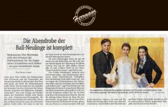 Modemacher Uwe Herrmann stellt den Schmuck der Debütantinnen vor - Hochzeitsmode Dresden - Uwe Herrmann