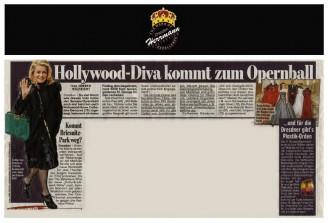 Der Modedesigner Uwe Herrmann entwarf die silbernen Debütantinnen Kleider - Hochzeitsmode Dresden - Uwe Herrmann