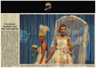 Die Modenschau mit Kreationen des Dresdners Uwe Herrmann gehörten zu den Höhepunkten - Hochzeitsmode Dresden - Uwe Herrmann