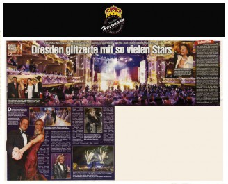 Die Debütanten eröffneten den Ball in silbernen Ballkleidern des Modedesigner Uwe Herrmann - Hochzeitsmode Dresden - Uwe Herrmann