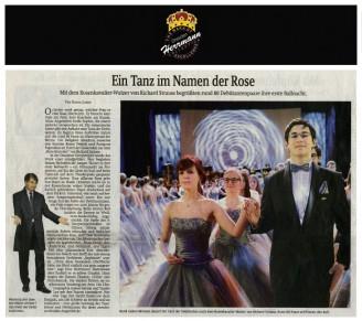 Modedesigner Uwe Herrmann entwarf die silbernen Debütantinnen Kleider - Hochzeitsmode Dresden - Uwe Herrmann