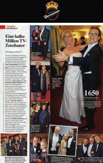 Höhepunkt und Schlusspunkt des Programms war der Aufmarsch der 72 Debütantenpaare. Auch in diesem Jahr hatte Dresdens Designer Uwe Herrmann die Kleider entworfen - Hochzeitsmode Dresden - Uwe Herrmann