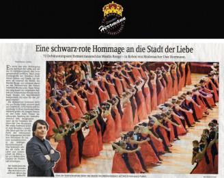 72 Debütantenpaare formen tanzend das Moulin Rouge – in Roben von Modemacher Uwe Herrmann - Hochzeitsmode Dresden - Uwe Herrmann